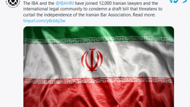Photo of کانون وکلای بینالمللی(IBA) پیش نویس آییننامه لایحه استقلال را محکوم کرد