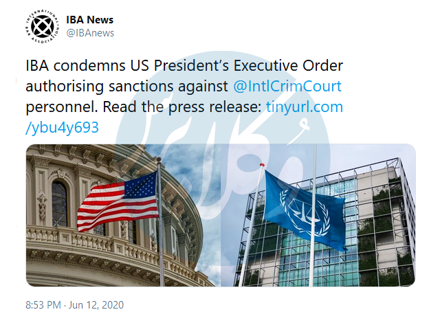 کانون وکلای بین المللی تحریم ICC