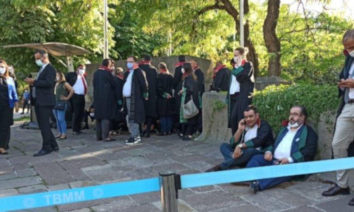 تحصن وکلا مقابل مجلس ترکیه