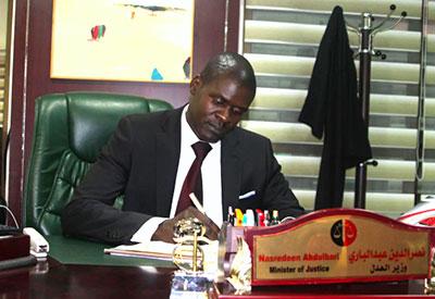 وزیر دادگستری جوان دولت موقت سودان