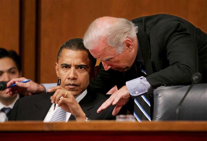 جو بایدن معاون باراک اوباما در دوره ریاست جمهوری وی